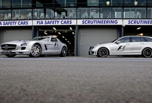 The Mercedes-Benz AMG F1 safety vehicles for the 2013 season