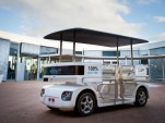 The Navia shuttle, the world's first commercially available autonomous car