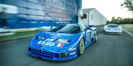 The only two factory-prepared racing Bugatti EB110