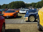 The parking lot at the 2018 Goodwood Festival of Speed