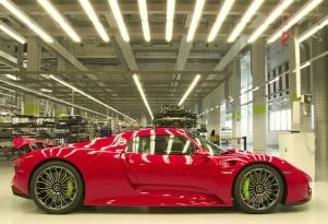 The Porsche 918 Spyder assembly line