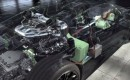 The Porsche 918 Spyder's hybrid powertrain in detail