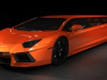 Stretched Lamborghini Aventador Limo Concept: Video