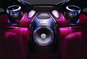 The Sonus faber audio system in the Pagani Huayra