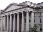 The U.S. Treasury building
