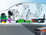 This drawing shows the outline of the future Nissan EV