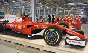 This is a full-scale Ferrari Formula One race car