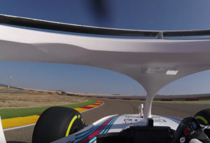 This is the view of the Formula 1 halo from the driver's seat
