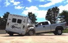 Watch what happens to an ambulance during a side impact crash