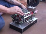 Tiny nitro-powered V-8 engine