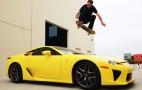 Lexus Fan Tony Hawk Uses Skateboard To Jump Over LFA: Video