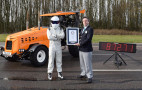 Fast farming: The Stig set a Guinness World Record for fastest tractor