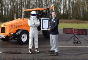 """""""Top Gear"""" and The Stig break Guinness World Record for fastest tractor"""