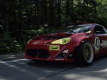 Ryan Tuerk drives his Ferrari-powered Toyota 86 on the street