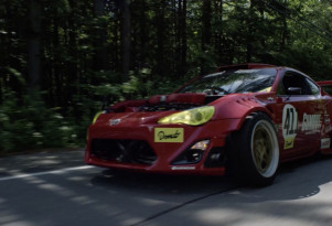 Ryan Tuerk drives his Ferrari-powered Toyota 86 on the street