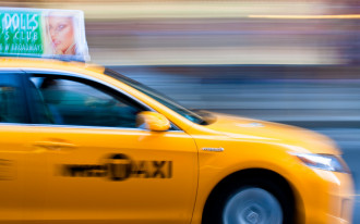 Uber eclipses the ubiquitous yellow taxi in New York