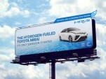 Toyota Mirai emissions-scrubbing billboard