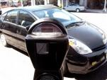 Toyota Prius at parking meter