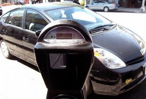 Toyota Prius at parking meter