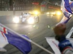 Toyota Racing's TS030 Hybrid car #7 winning the Six Hours of Sao Paulo in Brazil