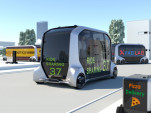 Toyota e-Palette self-driving electric mobility concept