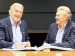 TVR chairman Les Edgar (left) and Gordon Murray