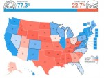 U.S. electoral vote predictions as of October 31, 2016 (via fivethirtyeight.com)