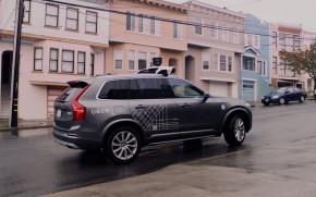 Uber self-driving prototype in San Francisco