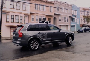 Uber self-driving prototype in San Francisco