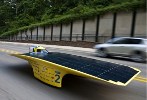 University of Michigan's Quantum Solar Racer Laps Michigan
