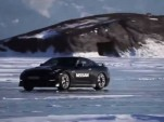 Unmodified Nissan GT-R attempts ice speed record