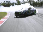 Vaughn Gittin Jr in his Forever Drift at Catalunya