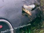 Veyron driver attempts impromptu tractor impression