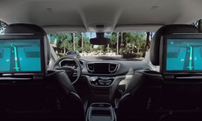 View from inside Waymo self-driving car