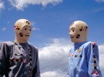 Vince and Larry, the crash-test dummies