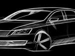 Volkswagen New Midsize Sedan official sketch