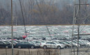 Volkswagen TDI diesel cars stored at Pontiac Silverdome (Photo by Jalopnik)