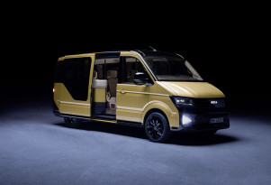 The Apple car to finally hit the road, only it's a VW Bus