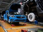Volvo S60 production at Torslanda plant in Sweden