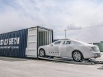 Volvo S90 sedans being transported via One Belt, One Road