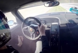Walter Röhrl crash in a 2015 Porsche 918 Spyder