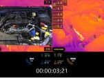 Watch engines warming up as captured by $55K thermal imaging camera