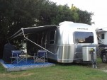 Weekend in 30-foot Airstream Flying Cloud trailer, Mystic KOA, N Stonington, CT, July 2013