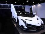 White Veneno Roadster delivered to Lamborghini Hong Kong