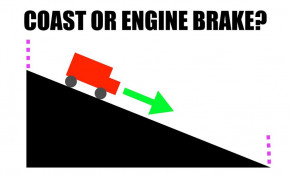 Will you use less fuel during engine braking or simply by coasting?