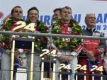 Winning Audi podium at Le Mans - Anne Proffit photo
