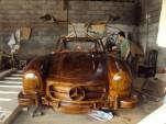 Wooden Mercedes-Benz 300SL on eBay.de