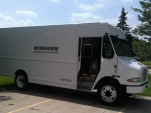 Workhorse Walk-In van, now produced by Amp Holdings and electrically powered