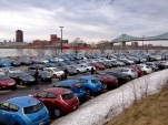 World-record attempt for most plug-in electric cars gathered in one place, Montreal, April 2014