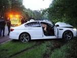 Wreckage of a 2013 BMW M5 that belonged to Dutch DJ Headhunterz